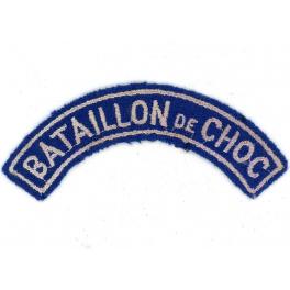 BANANE TISSU PARACHUTISTE - BATAILLON de CHOC  1946 - 1957