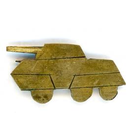 INSIGNE AUTOMITRAILLEUSE M8 , LIBERATION 1944 - 1945