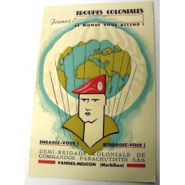 BROCHURE PARACHUTISTES COLONIAUX SAS , 1948