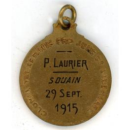 MEDAILLE des BLESSES , CROIX-ROUGE , Attribuée Poilu 1915