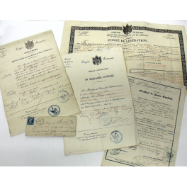 DOCUMENTS  GRENADIER 52ème de LIGNE , CRIMEE - ITALIE