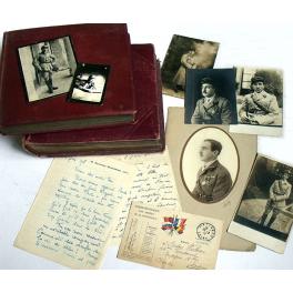 2 ALBUMS PHOTOS OFFICIER 10ème RAC , 1915 - 1917