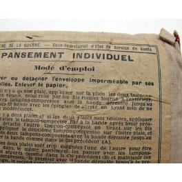 PANSEMENT INDIVIDUEL 1914 - 1918