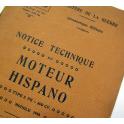 NOTICE AVIATION , HISPANO - SUIZA , 1923