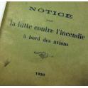 NOTICE INCENDIE , AVIONS , 1930