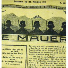 JOURNAL de TRANCHEE ALLEMAND 1917