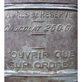 BOITE a VIVRES CHOCOLAT 1914 - 1918