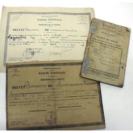 DOCUMENTS  MECANICIEN AERONAUTIQUE MARITIME  , 1925